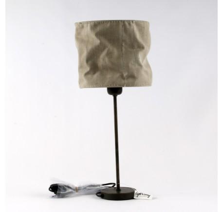 Lampe kATRIEN abat-jour en tissus cousu - Luminaire - Lecomptoirdesauthentics
