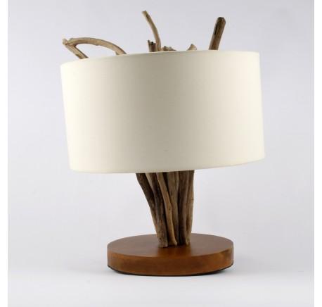 Lampe décor bois à poser  - Luminaire - Lecomptoirdesauthentics