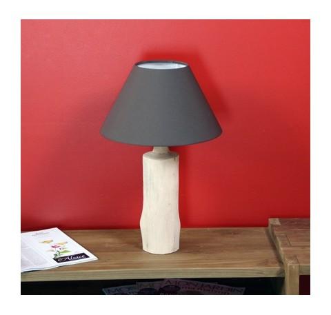 Lampe WOOD Pied en bois naturel