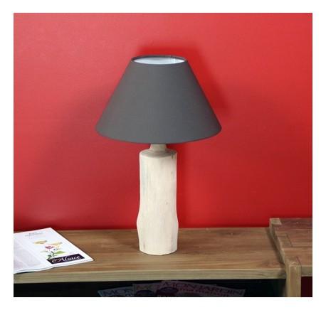 Lampe WOOD Pied en bois naturel   - Luminaire - Lecomptoirdesauthentics