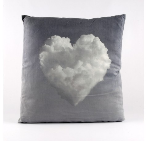 Coussin Coeur nuage
