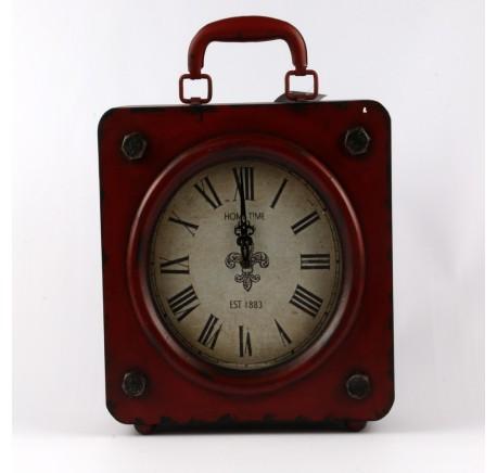 HORLOGE Vintage Valise SECRETS Rouge - Déco vintage - Lecomptoirdesauthentics