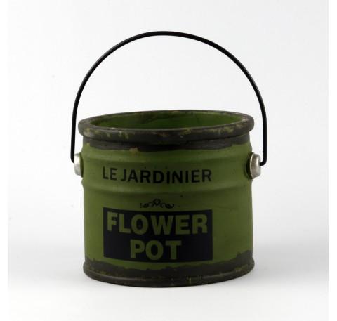 Pot de Peinture Vintage Objet décoratif 21 cm Vert