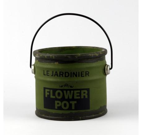 Pot de Peinture Vintage Objet décoratif 21 cm Vert - Décoration Vintage - Lecomptoirdesauthentics