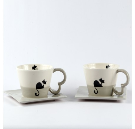 Tasse Chat WOODY - Art de la table - Lecomptoirdesauthentics