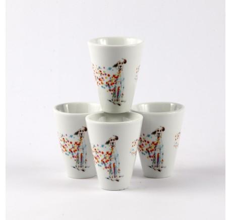 SET 4 Gobelets Tasses Expresso CHIEN PopArt - Vaisselle - Lecomptoirdesauthentics