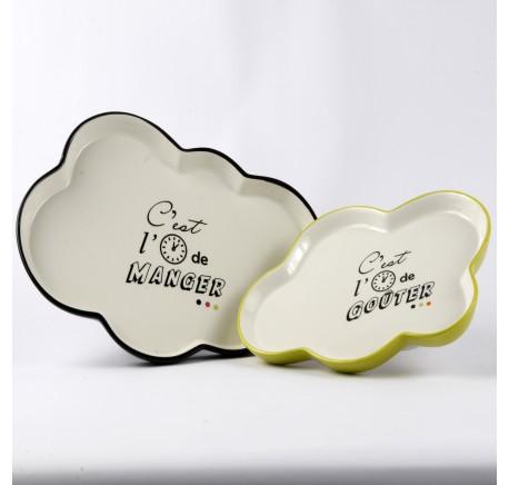 Plat Bulle C'EST L'HEURE De Manger - De Goûter - Art de la table - Lecomptoirdesauthentics