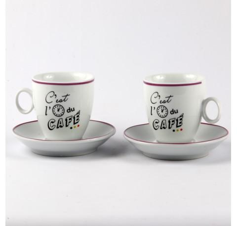 Tasse à café C'EST L'HEURE