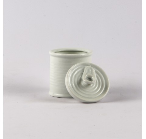 Boite de Conserve Sucrier Blanc 6.5 x 9 cm