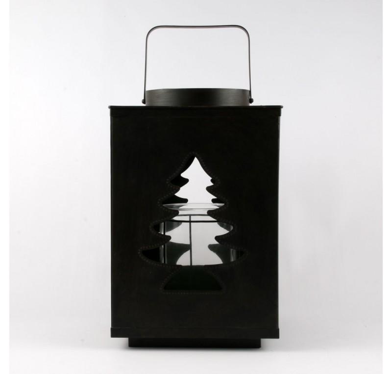 lanterne m tal sapin de noel photophore lanterne. Black Bedroom Furniture Sets. Home Design Ideas