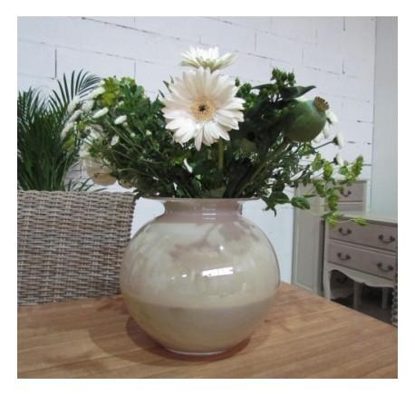 Vase en Verre  Rond couleur Taupe - Vase - Lecomptoirdesauthentics
