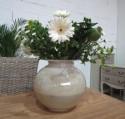 Vase en Verre  Rond couleur Taupe