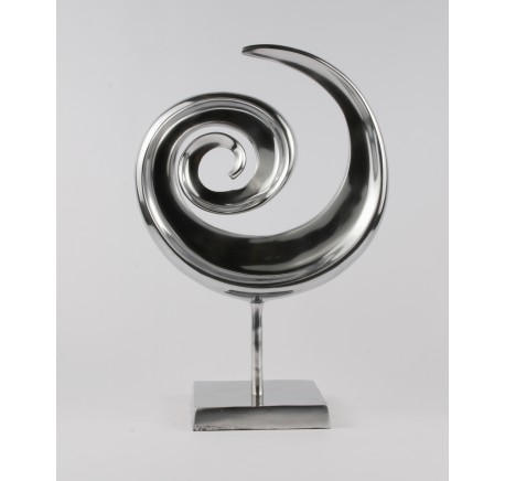 Statuette Décoration CHROME Collection Twist  - Objet déco Maison - Lecomptoirdesauthentics