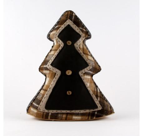 Sapin de Noël tissu CHALET 65 cm  - Décoration de Noël  - Lecomptoirdesauthentics