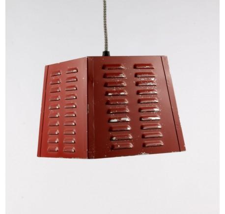 Lampe SUSPENSION Vintage Rouge - Luminaire - Lecomptoirdesauthentics