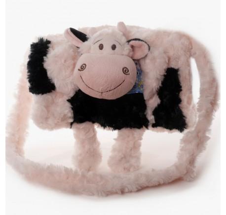 Sac à Main Enfant Manchon Peluche VACHE avec poches - Peluche, doudou - Lecomptoirdesauthentics