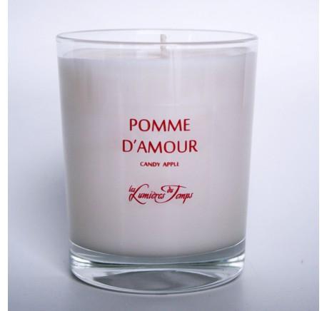 Bougie Végétale 180g POMME D'AMOUR - Les Lumières du Temps 55H - Bougie, senteur, bien-être - Lecomptoirdesauthentics