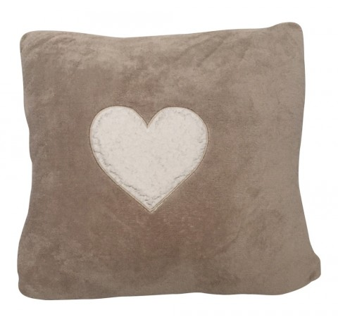 Coussin COCOON COEUR Taupe