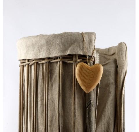coeur bois naturel7cm