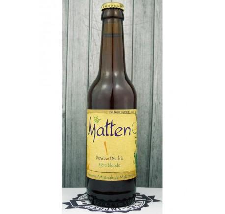 Bière MATTEN Psaïkodéclik  5,2% - Bière Artisanale - Lecomptoirdesauthentics