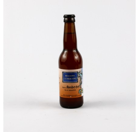Bière LA MERCIERE Ambrée 5.4 % - Bière Artisanale - Lecomptoirdesauthentics