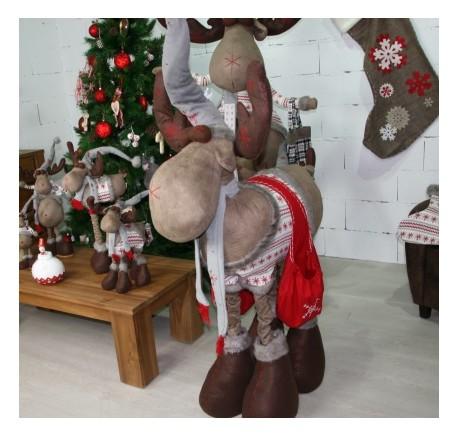 ELAN Géant sur 4 pattes 221 cm - Décoration de Noël  - Lecomptoirdesauthentics