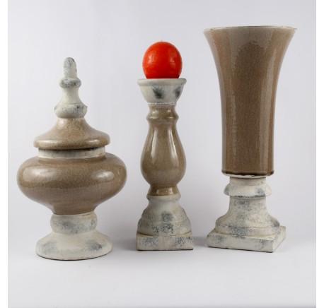 Chandelier Céramique Collection CHAMBORD 30 cm - Objet déco Maison - Lecomptoirdesauthentics