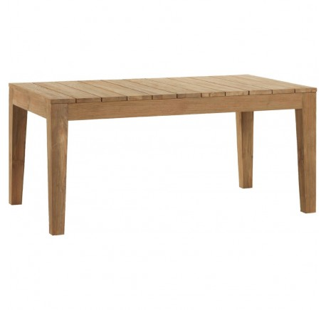 Table de Jardin TECK Brossé Naturel OUTDOOR - Table - Meubles bois - Lecomptoirdesauthentics