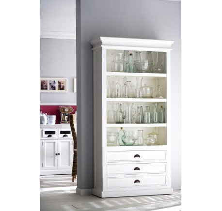 buffet bibliotheque bois blanc leirfjord biblioth que tag re meubles bois. Black Bedroom Furniture Sets. Home Design Ideas