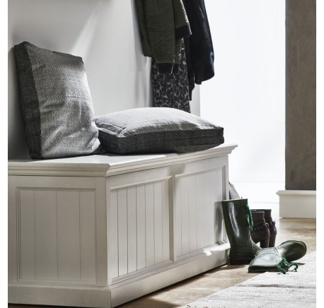 coffre banc de rangement collection leirjford bois blanc. Black Bedroom Furniture Sets. Home Design Ideas