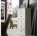 Commode Bois Blanc 5 tiroirs Collection LEIRJFORD