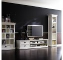 Meuble TV bois blanc LEIRJFORD 180cm