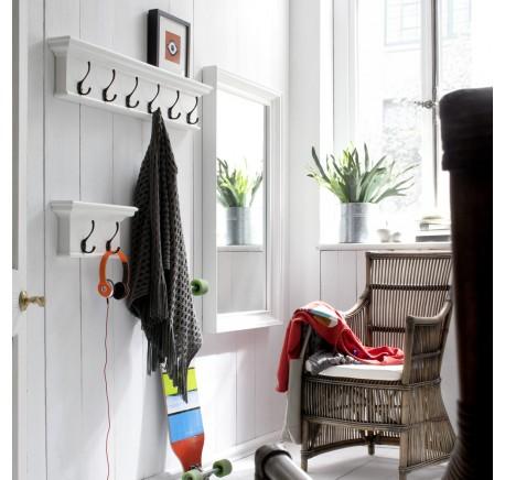Patère Bois blanc  2 crochets Collection LEIRFJORD - Etagère - Chambre à coucher - Lecomptoirdesauthentics