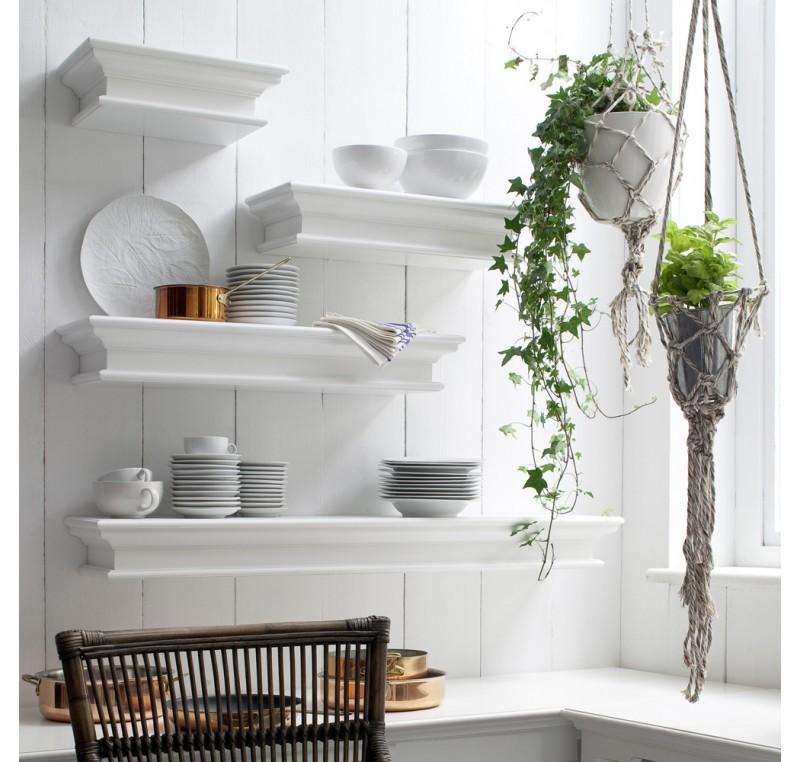 etag re murale flottante bois blanc leirfjord 80cm etag re biblioth que tag re meubles. Black Bedroom Furniture Sets. Home Design Ideas