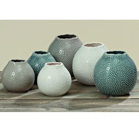 Set 3 Vases TESSA en grès H12cm - Vase - Lecomptoirdesauthentics