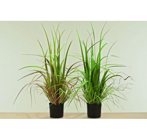 Assortiment 2 Plantes Synthétiques en Pot H82cm