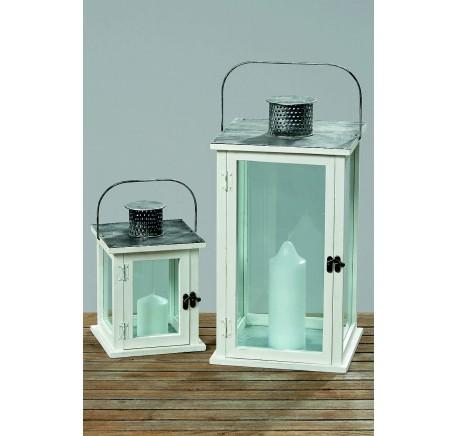 Set 2 Lanternes Collection TRITON H25-45 cm - Photophore, lanterne - Objet déco Maison - Lecomptoirdesauthentics
