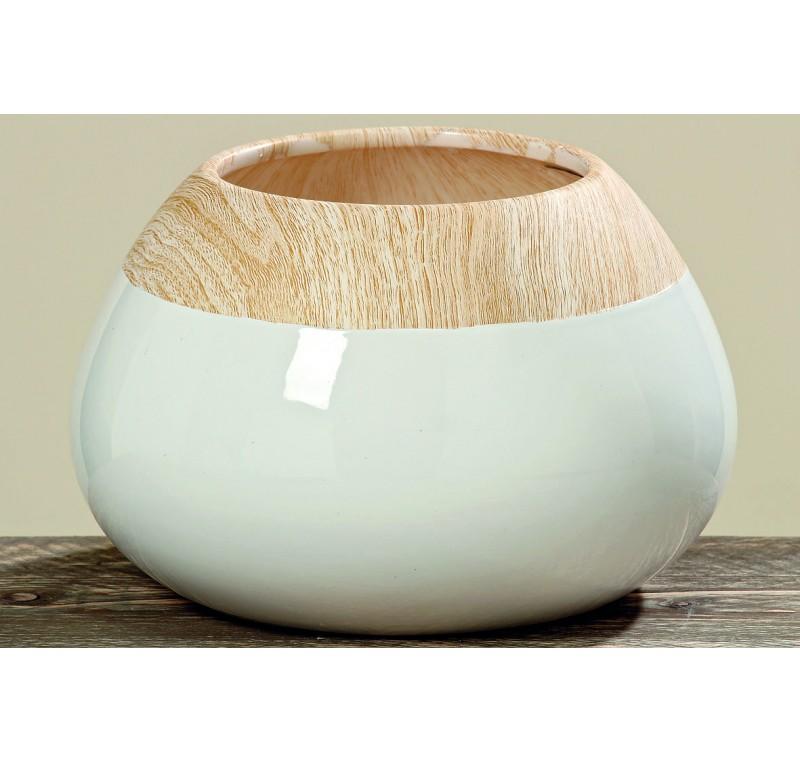 vase tia dolomite blanc h16 vase cache pot fleur. Black Bedroom Furniture Sets. Home Design Ideas