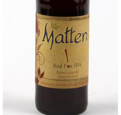 Bière MATTEN Red Fox IPA 7.7% 33 cl