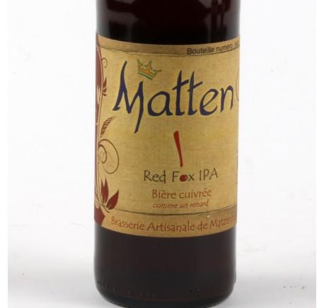 Bière MATTEN Red Fox IPA 7.7% 33 cl - Bière Artisanale - Lecomptoirdesauthentics