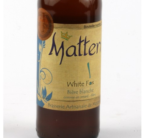 Bière MATTEN White Fox 5,2%