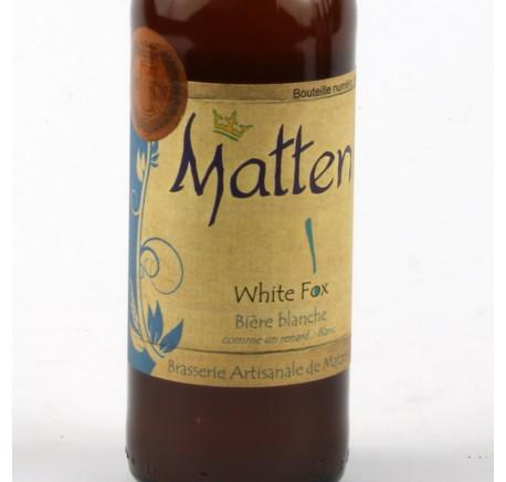 Bière MATTEN White Fox 5,2% - Bière Artisanale - Lecomptoirdesauthentics