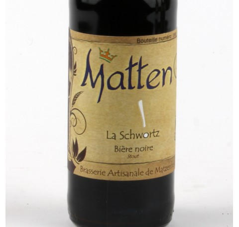 Bière MATTEN La Schwortz 5,8%