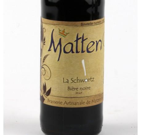 Bière MATTEN La Schwortz 5,8% - Bière Artisanale - Lecomptoirdesauthentics