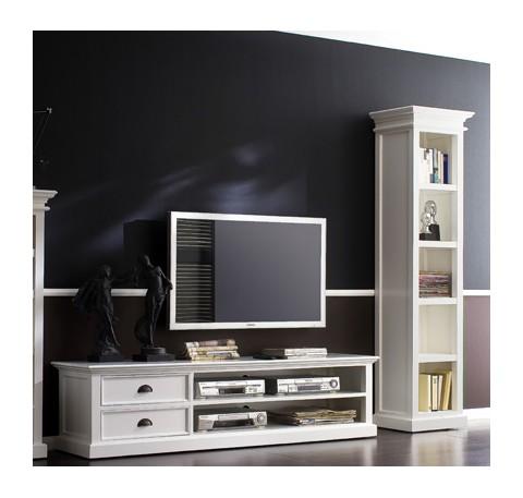 Meuble TV en bois blanc LEIRFJORD 120 cm