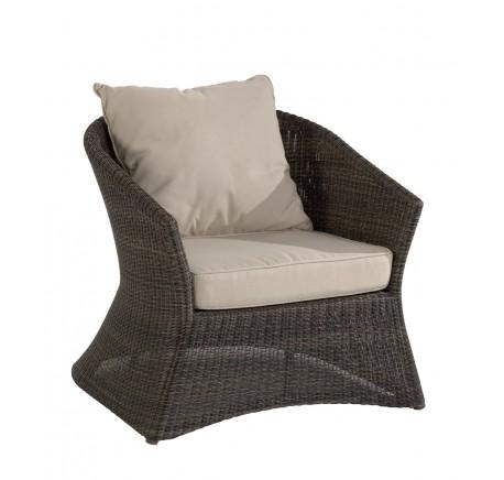 Fauteuil de Jardin OUTDOOR Collection ZENITH en Résine Poivre  - Canapé, fauteuil - Meubles bois - Lecomptoirdesauthentics