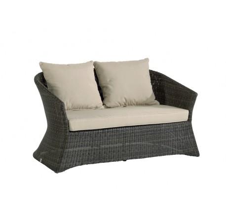 Canapé de Jardin OUTDOOR Collection ZENITH en Résine Poivre - 2 places - Mobilier de jardin - Lecomptoirdesauthentics