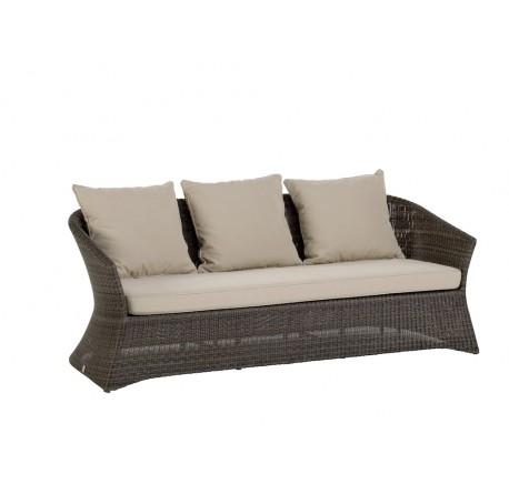 Canapé de Jardin OUTDOOR Collection ZENITH en Résine Poivre -  3 places - Canapé - Canapé, fauteuil - Meubles bois - Lecomptoirdesauthentics