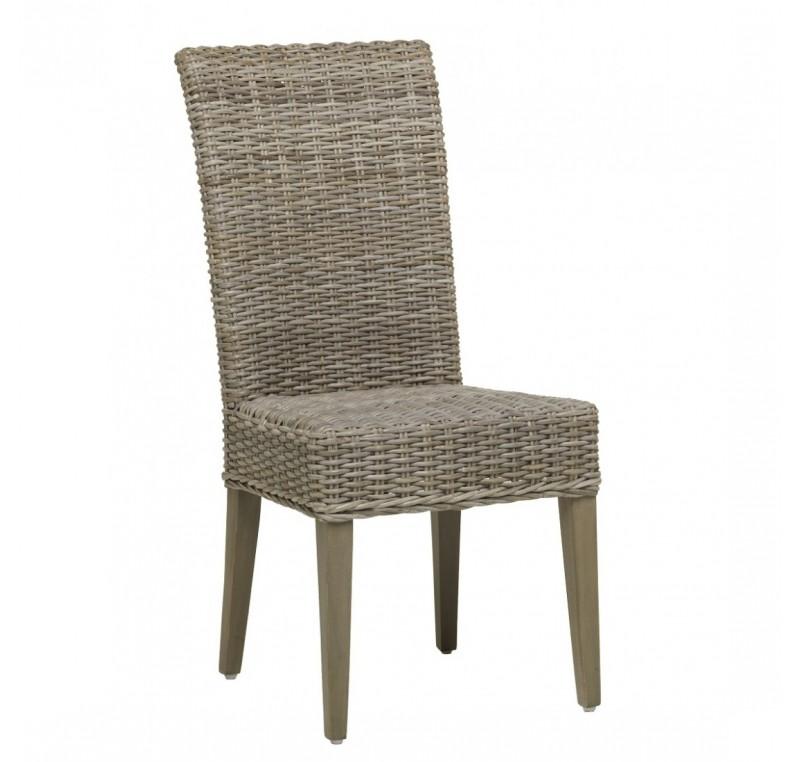 Kooboo Wicker Chair: Chaise D'interieur JOSEPHINE En Rotin Kooboo Gris