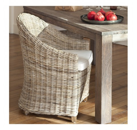 Fauteuil - Bridge de Table Romain Collection TOSCA en Rotin